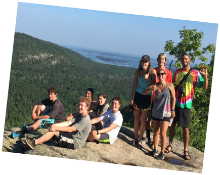 Teen Treks Maine Coast explores Mount Desert Island and Acadia National Park nearby Bar Harbor